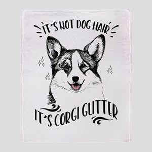It's Not Dog Hair It's Corgi Glitter Throw