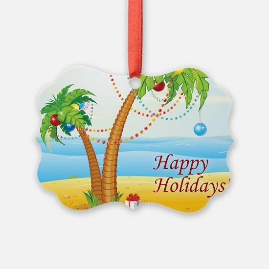 Palm Tree Holiday Ornament