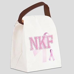 NKF initials, Pink Ribbon, Canvas Lunch Bag