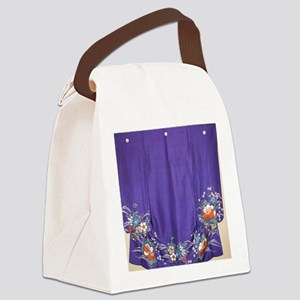 Regal Purple Antique Kimono Showe Canvas Lunch Bag