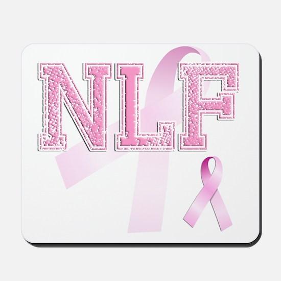 NLF initials, Pink Ribbon, Mousepad