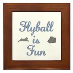 Flyball Fun Framed Tile