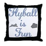 Flyball Fun Throw Pillow