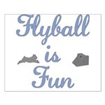 Flyball Fun Small Poster