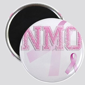 NMO initials, Pink Ribbon, Magnet