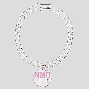NMO initials, Pink Ribbo Charm Bracelet, One Charm