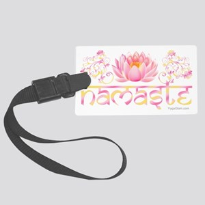 Namaste_lotus_new Large Luggage Tag