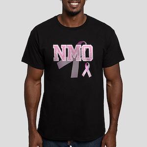 NMO initials, Pink Rib Men's Fitted T-Shirt (dark)