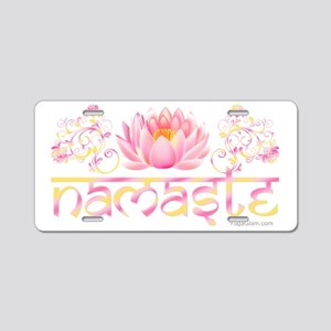 Namaste_lotus_new Aluminum License Plate