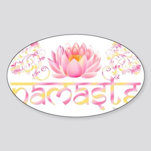 Namaste_lotus_new Sticker (Oval)