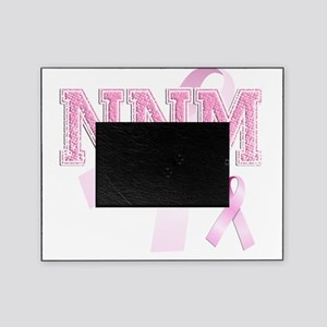 NNM initials, Pink Ribbon, Picture Frame