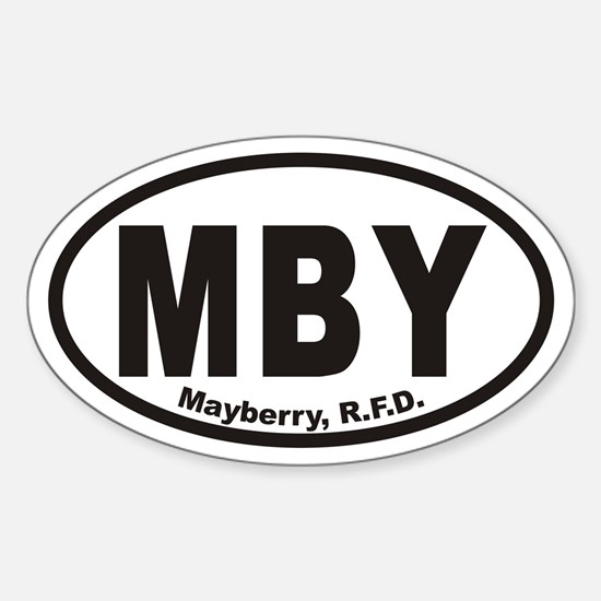MBY Mayberry R.F.D. Euro Oval Stickers