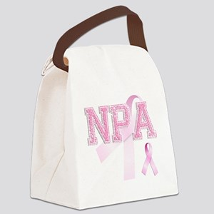 NPA initials, Pink Ribbon, Canvas Lunch Bag