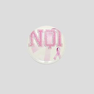 NQI initials, Pink Ribbon, Mini Button