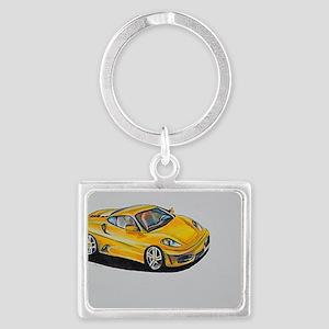 Yellow Lamborghini Landscape Keychain