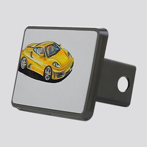 Yellow Lamborghini Rectangular Hitch Cover