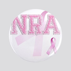 "NRA initials, Pink Ribbon, 3.5"" Button"
