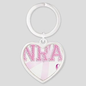 NRA initials, Pink Ribbon, Heart Keychain