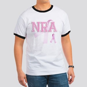 NRA initials, Pink Ribbon, Ringer T