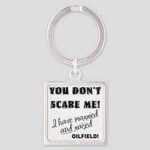 SCARED copy Square Keychain