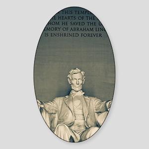 Lincoln Memorial Sticker (Oval)