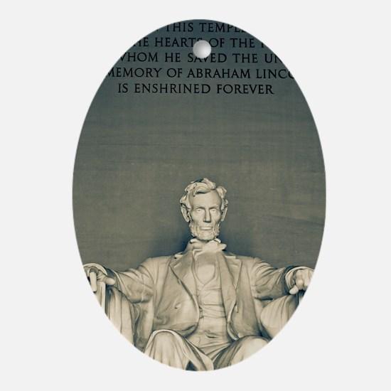 Lincoln Memorial Oval Ornament