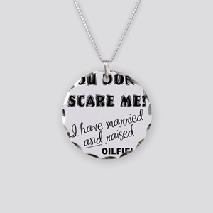 SCARED copy Necklace Circle Charm