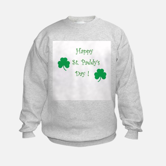 Happy St. Paddy's Day Sweatshirt w/ Shamrocks