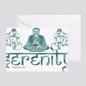serenity_buddha_dark Greeting Card