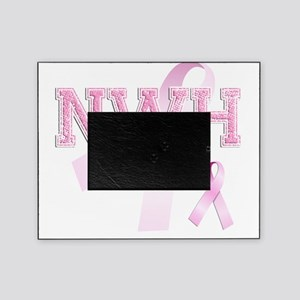 NWH initials, Pink Ribbon, Picture Frame