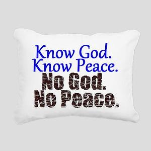 Know no Rectangular Canvas Pillow