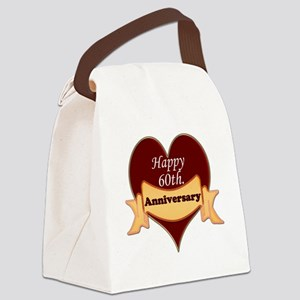 Happy 60th. Anniversary Canvas Lunch Bag