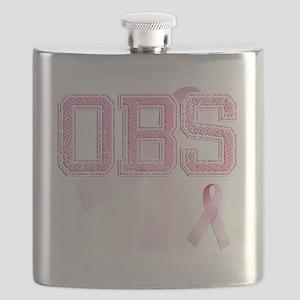 OBS initials, Pink Ribbon, Flask