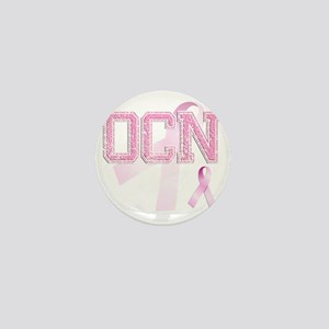 OCN initials, Pink Ribbon, Mini Button