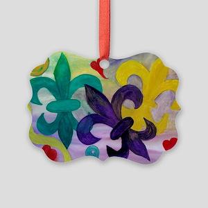 Mardi Gras Fleur de lis Picture Ornament