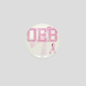 OEB initials, Pink Ribbon, Mini Button