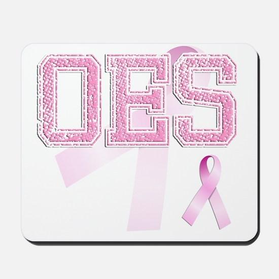 OES initials, Pink Ribbon, Mousepad