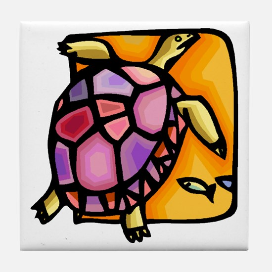 Cool Turtle Tile Coaster