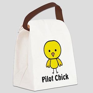 Pilot Chick Canvas Lunch Bag