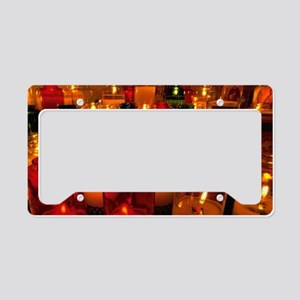 Christmas Glass Candles License Plate Holder