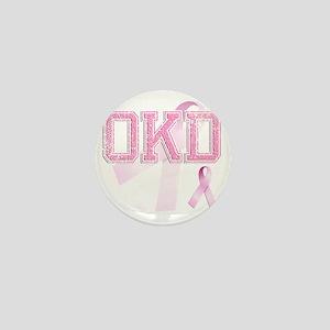 OKD initials, Pink Ribbon, Mini Button