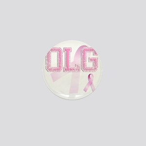OLG initials, Pink Ribbon, Mini Button