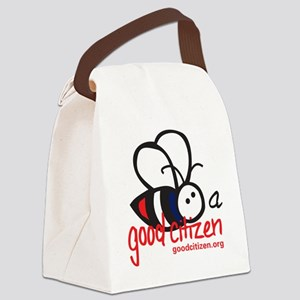 Bee Tee - Light Colored Canvas Lunch Bag