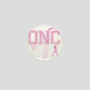 ONC initials, Pink Ribbon, Mini Button