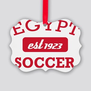 Egyptian Soccer Designs Picture Ornament