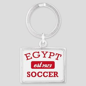 Egyptian Soccer Designs Landscape Keychain