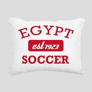 Egyptian Soccer Designs Rectangular Canvas Pillow