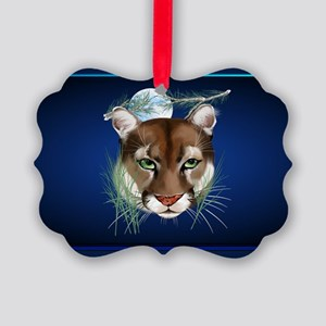 Wall Peels Midnight Mountain Lion Picture Ornament