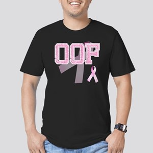 OOF initials, Pink Rib Men's Fitted T-Shirt (dark)