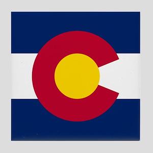 Colorado CO State Flag Tile Coaster
